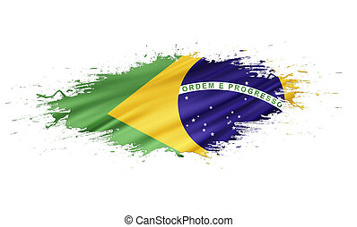Brazil - splashes with Flag abstract background