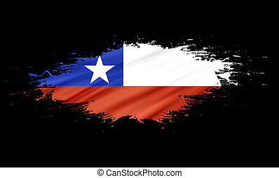 Chile - splashes with Flag abstract background