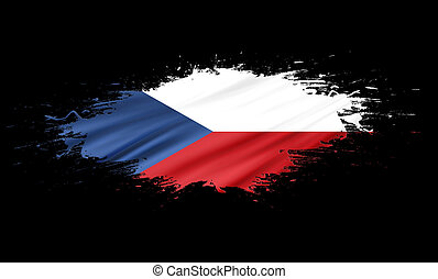 Czech Republic - splashes with Flag abstract background