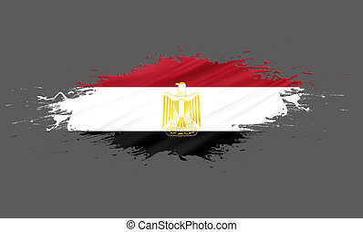 Egypt - splashes with Flag abstract background