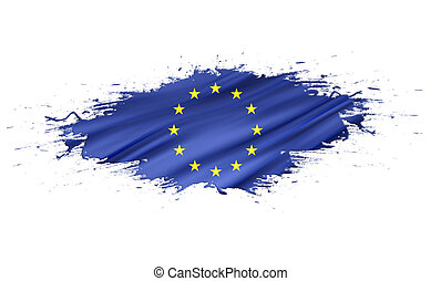 Europe - splashes with Flag abstract background