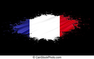 France - splashes with Flag abstract background
