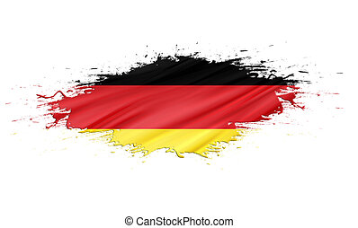 Germany - splashes with Flag abstract background