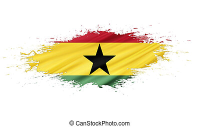 Ghana - splashes with Flag abstract background