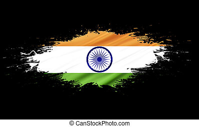 India - splashes with Flag abstract background