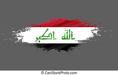 Iraq - splashes with Flag abstract background