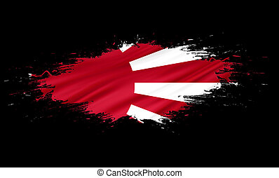 Japan Rising Sun - splashes with Flag abstract background