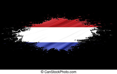 Netherlands (Holland) - splashes with Flag abstract...