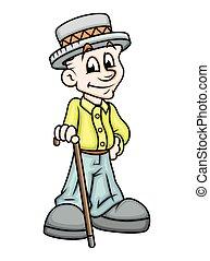 Cartoon Gentleman Character
