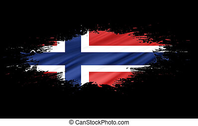 Norway - splashes with Flag abstract background