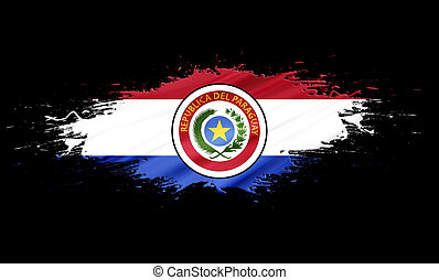 Paraguay - splashes with Flag abstract background