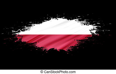 Poland - splashes with Flag abstract background