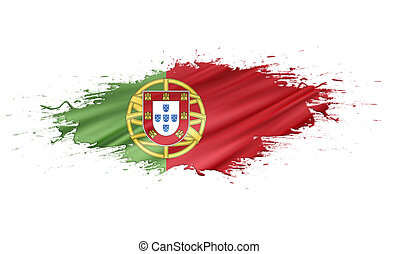 Portugal - splashes with Flag abstract background