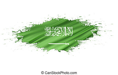 Saudi Arabia - splashes with Flag abstract background