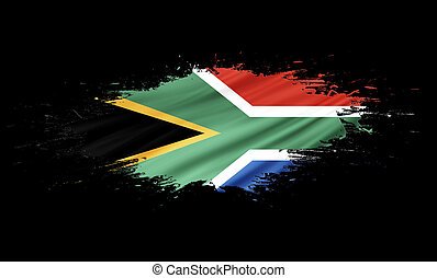 South Africa - splashes with Flag abstract background