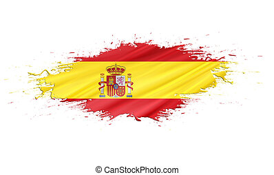 Spain - splashes with Flag abstract background