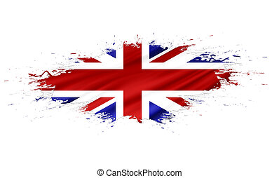 United Kingdom (UK) - splashes with Flag abstract background