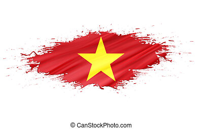 Vietnam - splashes with Flag abstract background