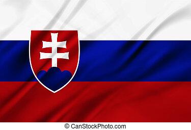 Slovakia - The National Flag of Slovakia