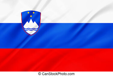Slovenia - The National Flag of Slovenia