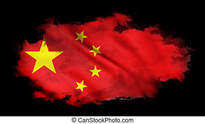 China - The National Flag of the China abstract background
