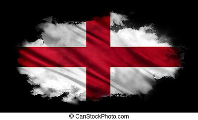 England - The National Flag of the England abstract...