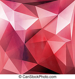 red background with polygons - bright red abstract and...