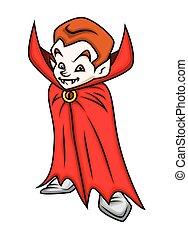 Cartoon Dracula Character
