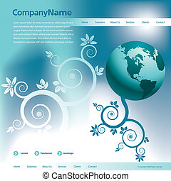 web site design template - Vector web site design template...