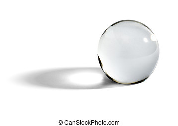 Glass ball or orb with shadow - Glass ball or orb for...