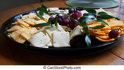 Cheese Tray - Variety of cheese on a tray