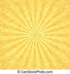 Yellow grunge background with rays