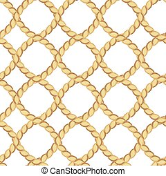 Ropes seamless pattern - Seamless pattern with ropes on...