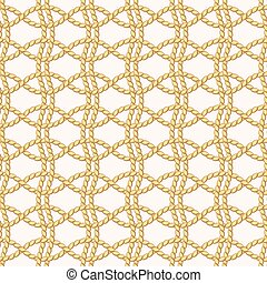 Rope netting - Seamless pattern with rope netting