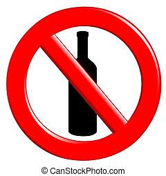 Prohibition ingestion bottles - Illustration prohibit...