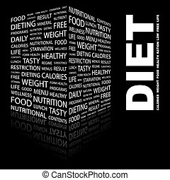 DIET Concept illustration Graphic tag collection Wordcloud...