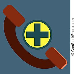 Help line, phone, telephone icon vector image, for...