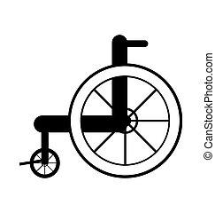 wheelchair.  medical concept.
