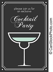 Cocktail retro poster