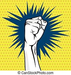 Revolution fist pop art