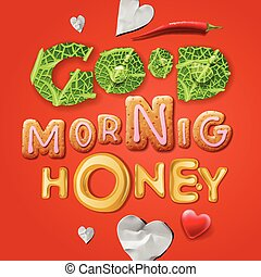 Good morning, honey - Good morning honey Background with...