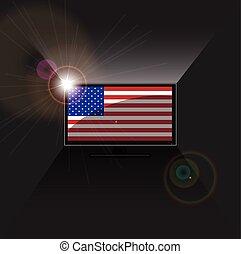 flag American in TV
