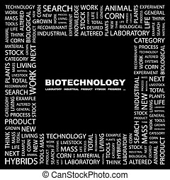 BIOTECHNOLOGY. Word cloud concept illustration. Wordcloud...