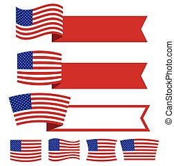Ribbon American Independence day