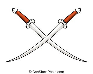 Cross Swords Vector Illustration