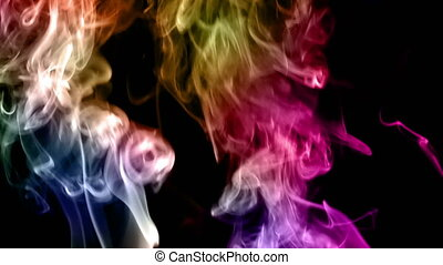 Abstract Colorful Elegant Smoke Turbulence