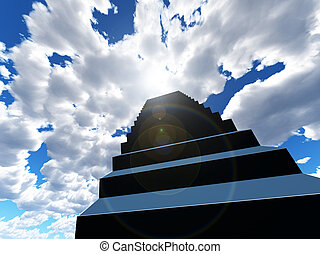 Heavens Stairway - Conceptual image about a stairway to...