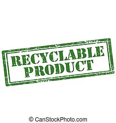 Recyclable Product - Grunge rubber stamp with text...
