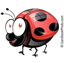 ladybug cartoon isolated on white background