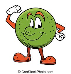 Healthy Cartoon Fruit Character
